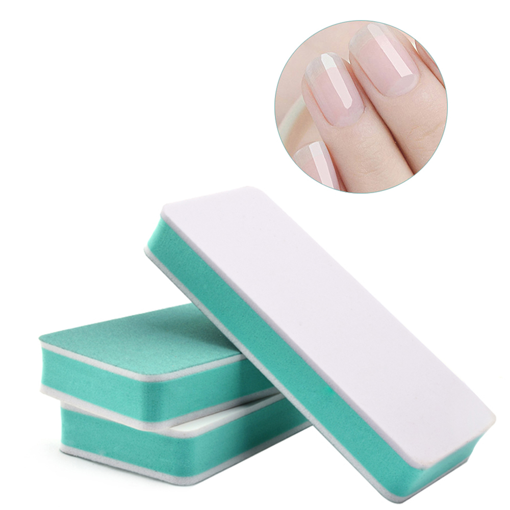 Double-sided Professional Green Nail File Buffer Polishing Block Sanding Nail Art Manicure Sponge Setback Nail Art Manicure Tool