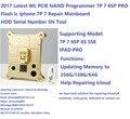 DHL livre WL PCIE NAND Programador 7 P 7 6BP PRO Flash ic iphone 7 p 7 reparação mainboard hdd serial número sn ferramenta