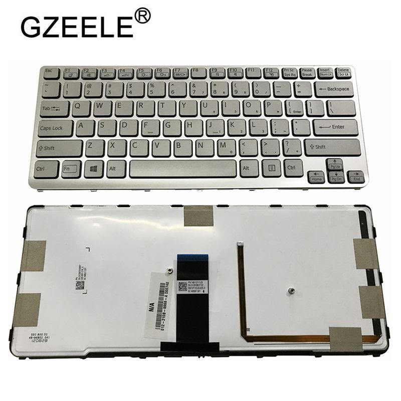 Image 4 - GZEELE US backlit new laptop keyboard for Sony VAIO SVE 14 SVE14 SVS14 SVE14A SVE14AG backlit Keyboard 149009711US 9Z.N6BBF.C01-in Replacement Keyboards from Computer & Office on