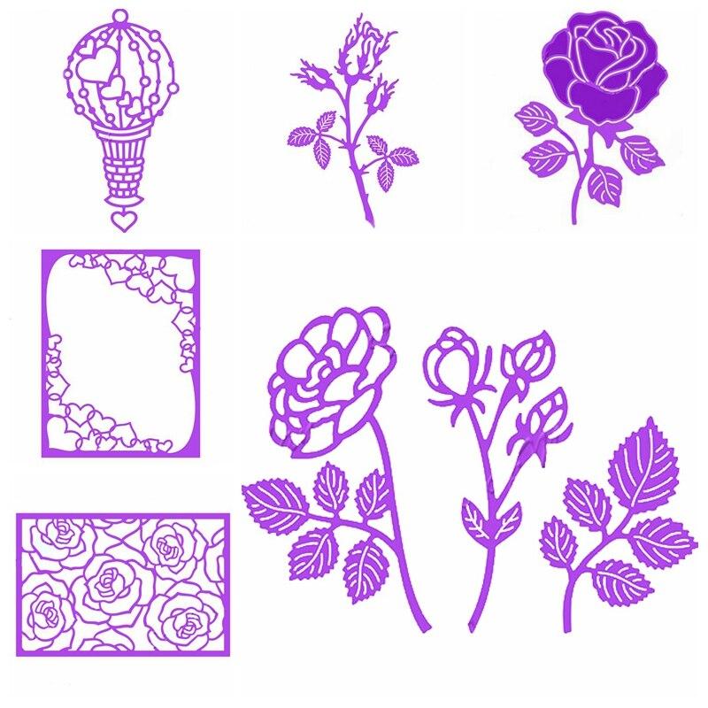 Flower Frame Metal Cutting Dies Stencil Scrapbooking Embossing Crafts DIY Decor