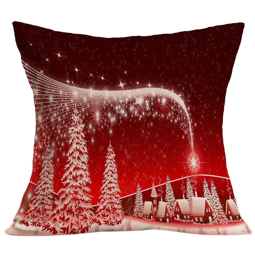 red christmas cushions home decor scandinavian style sofa bed home decor pillow case cushion cover almofadas para sofa