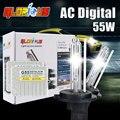 Um conjunto de xenônio D2S 55 w Slim lastro HID xenon kit 4300 K 5000 K 6000 K 8000 K lâmpada D2S xenon para farol do carro