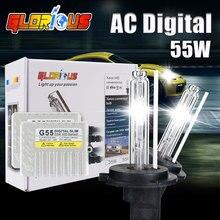 Ксенон D2S 55 Вт Тонкий HID балласт ксенона 3000 К 4300 К 5000 К 6000 К 8000 К лампы D2S ксеноновые лампы для фар автомобиля