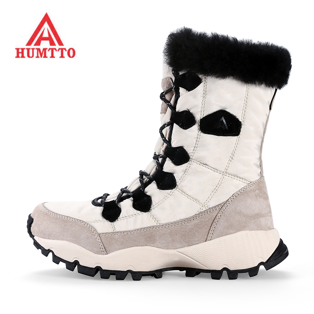 Humtto Real Hiking Shoes Mulher Escalada Women Winter Snow Boots Shoes Keep Warm Outdoor Trekking Hiking