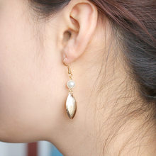 Long Tassel Earrings with pearl Earrings for Women leaf Dangle Earrings Gifts Jewelry(China)