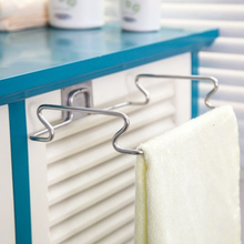 QuickDone Metal Hanging Garbage Bags Rack Cupboard Cabinet Stand Organizer Hanging Kitchen Wash Cloth Towel Organizer KC1625