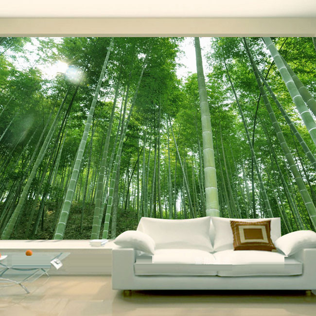 цена 3D stereoscopic large mural custom wall paper  living room backdrop bedroom wallpaper murals 3D visual bamboo-stand home decor онлайн в 2017 году
