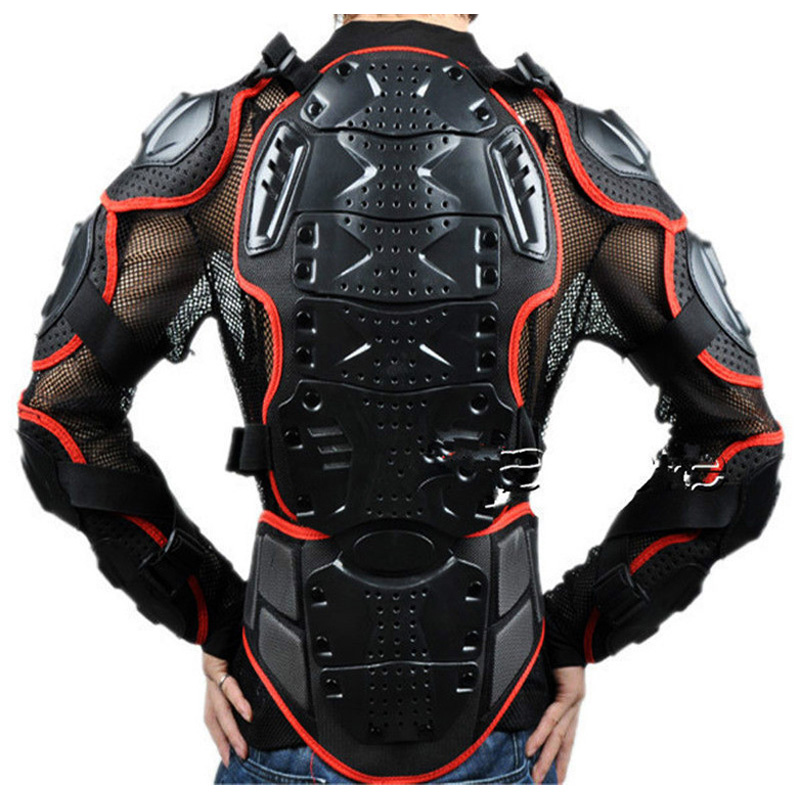 Full Body Armor Jacket Spine Chest Protection Gear Motorcycle