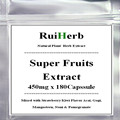 Super Fruits Extract 500mg x 180Capsule Mixed with Strawberry/Kiwi Flavor Acai, Gogi, Mangosteen, Noni & Pomegranate