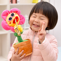 Novelty Gag Toy Gags Practical Jokes Sun Flower Playing Guitar Singing Dancing Electric Plush Potted Dolls Funny Children Toys