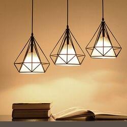 W stylu Vintage oświetlenie sufitowe LED E27 lampa Loft żelaza jadalnia Cafe korytarz Bar żarówka Droplight w Żyrandole od Lampy i oświetlenie na