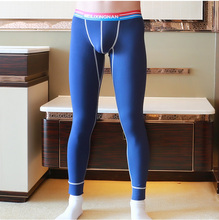 Brief strong colour skinny male fundamental thermal lengthy johns low-waist slim cotton breathable cotton wool pants CY604