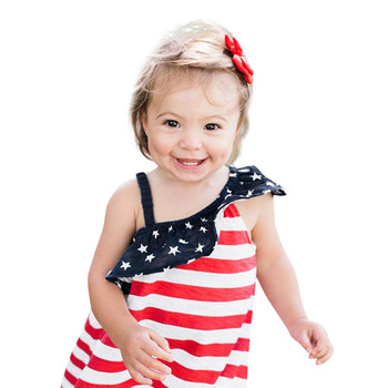 Baby Girls Infant Kids 4th Of July Star Dress Clothes Sundress Casual Sets T# 4