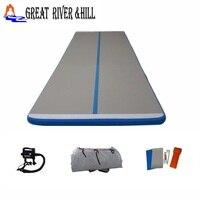 Дешевые надувные команда акробатика воздуха трек воды прыжки Коврик для Спорт с бесплатной насос для продажи 5 м x 1.8 м x 0.1 м