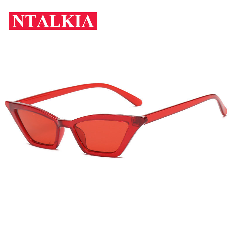 2018 Fashion Small Sexy Cat Eye Sunglasses Women Classic Brand Designer Candy Color Sun Glasses Red Black Sunglass Female UV400