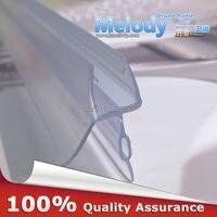Plastic Rubber Bath Shower Screen Door Seal Strips 6 10mm Glass Door 10 17mm Gap length:700mm