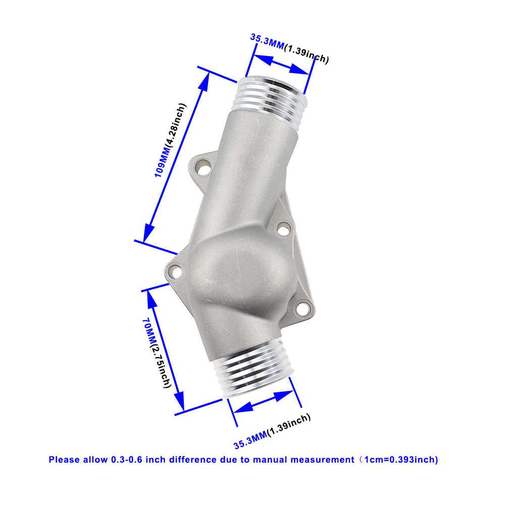 アップグレードアルミサーモスタットハウジングカバーガスケットブランド new for bmw M3 Z3 E34 E36 11531722531 11531740437 ポリッシュ