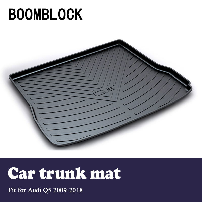 BOOMBLOCK For Audi Q5 2009 2010 2011 2012 2013 2014 2015 2016 2017 2018 Waterproof Anti-slip Car Trunk Mat Tray Floor Carpet Pad nickel brushed bathroom lavatory faucet hot and cold single lever ceramic handle bathroom basin faucet sink mixer tap