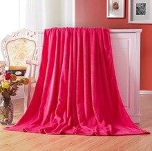 CAMMITEVER Cobertor Têxtil de Casa Cor Sólida Super Macio Quente Cobertores de Flanela Lance no sofá/cama/Colchas Mantas de Viagem folhas