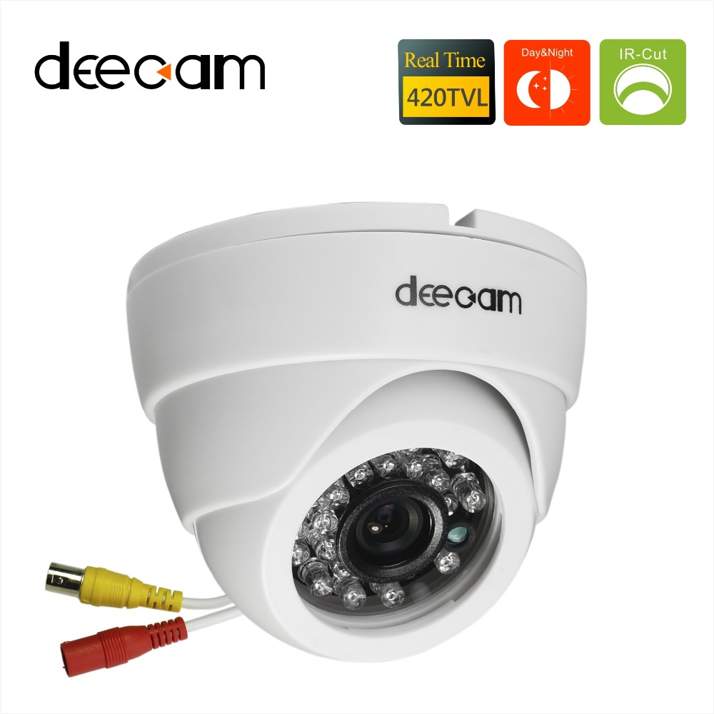 deecam sony ccd 420tvl ir lens distance 20m cctv indoor dome security camera home. Black Bedroom Furniture Sets. Home Design Ideas