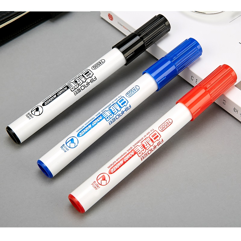 36 pcs/Lot Bullet point 2mm whiteboard pen Black blue red color marker Stationery Office material School supplies papelaria F904