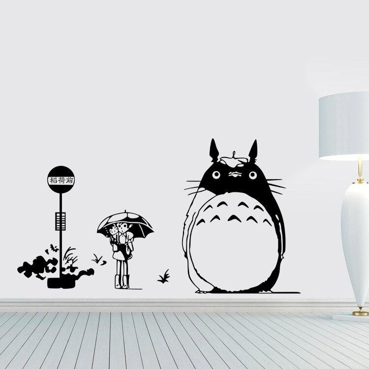 Nouveauté créative nouveau bricolage Art mural Totoro Stickers muraux enfants chambres décoration de la maison Stickers muraux salon