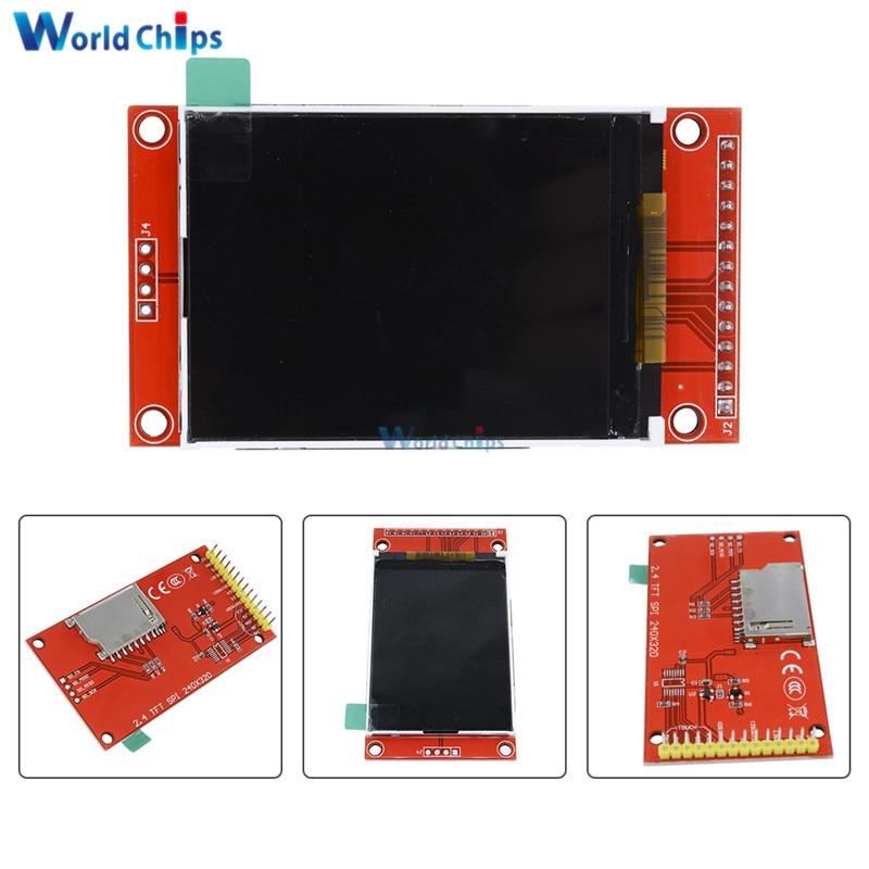 цена на 2.4 2.4 inch 240x320 SPI TFT LCD Serial Port Module 5V/3.3V PCB Adapter Micro SD Card ILI9341 LCD Display White LED for Arduino