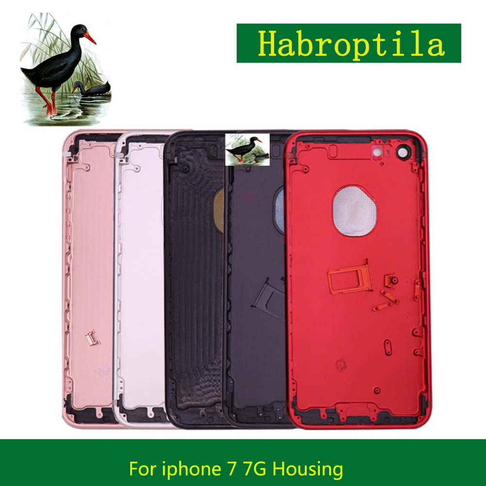 High Quality For IPhone 7 7G and iphone 7 plus Housing Battery Cover Door Rear Cover Chassis Frame Back Cover Housing