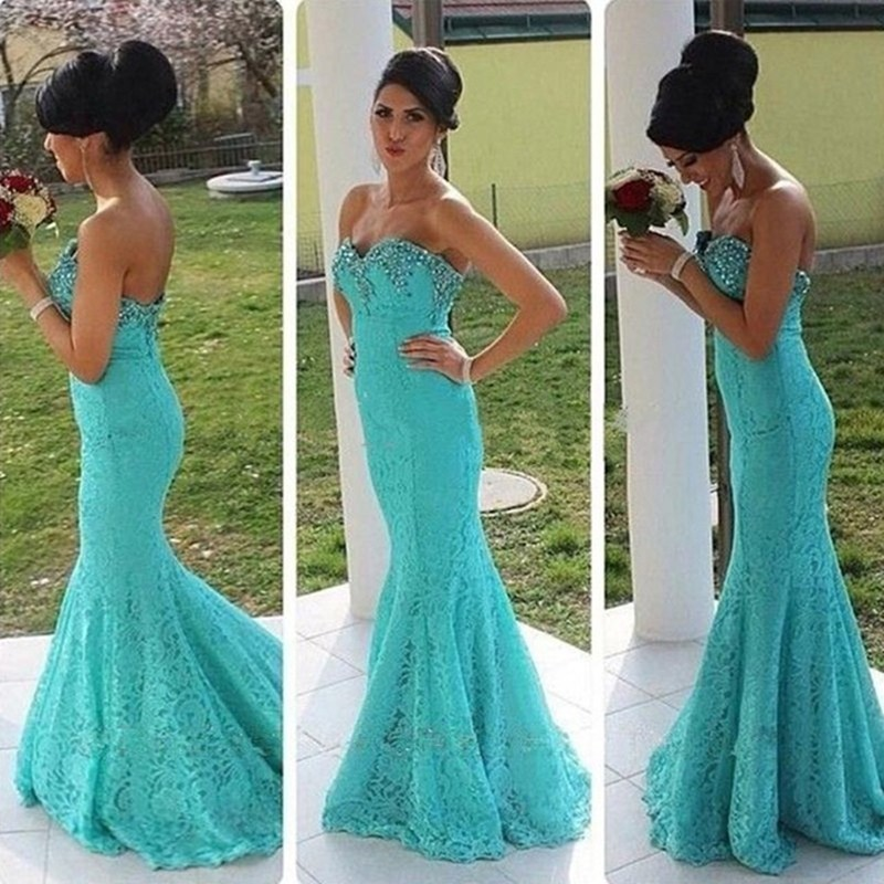 0dfe080ec5 US $133.0 |2017 Saudi Arabia Mermaid Lace Prom Dresses Sexy Backless  Turquoise Beaded Women Gowns Cheap Vestido Para Formatura Luxury-in Prom  Dresses ...