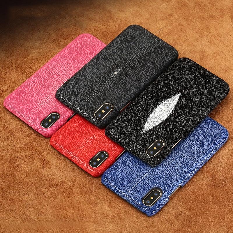 Marque en peau de serpent véritable étui de téléphone pour xiaomi mi 8 téléphone couverture arrière étui de protection en cuir étui de téléphone pour xiaomi pocophone f1 - 5