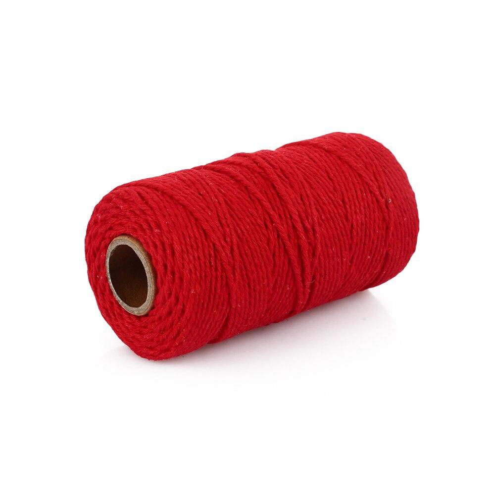Хлопковое плетение из веревок веревка практичная 100 ярдов подарочная упаковка Artisan String Macrame Artisan Свадебная