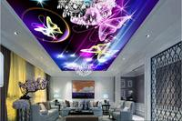 Custom Photo 3d Wallpaper Non Woven Picture Wall Sticker Meteor Butterflyceiling Murals Room Decoration Painting