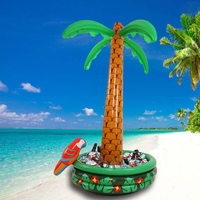 Summer Series 180 cm Large Inflatable Coconut Palm Tree Drinks Cooler Ice Bucket For Sand Beach Party Decorations Supplies Toys