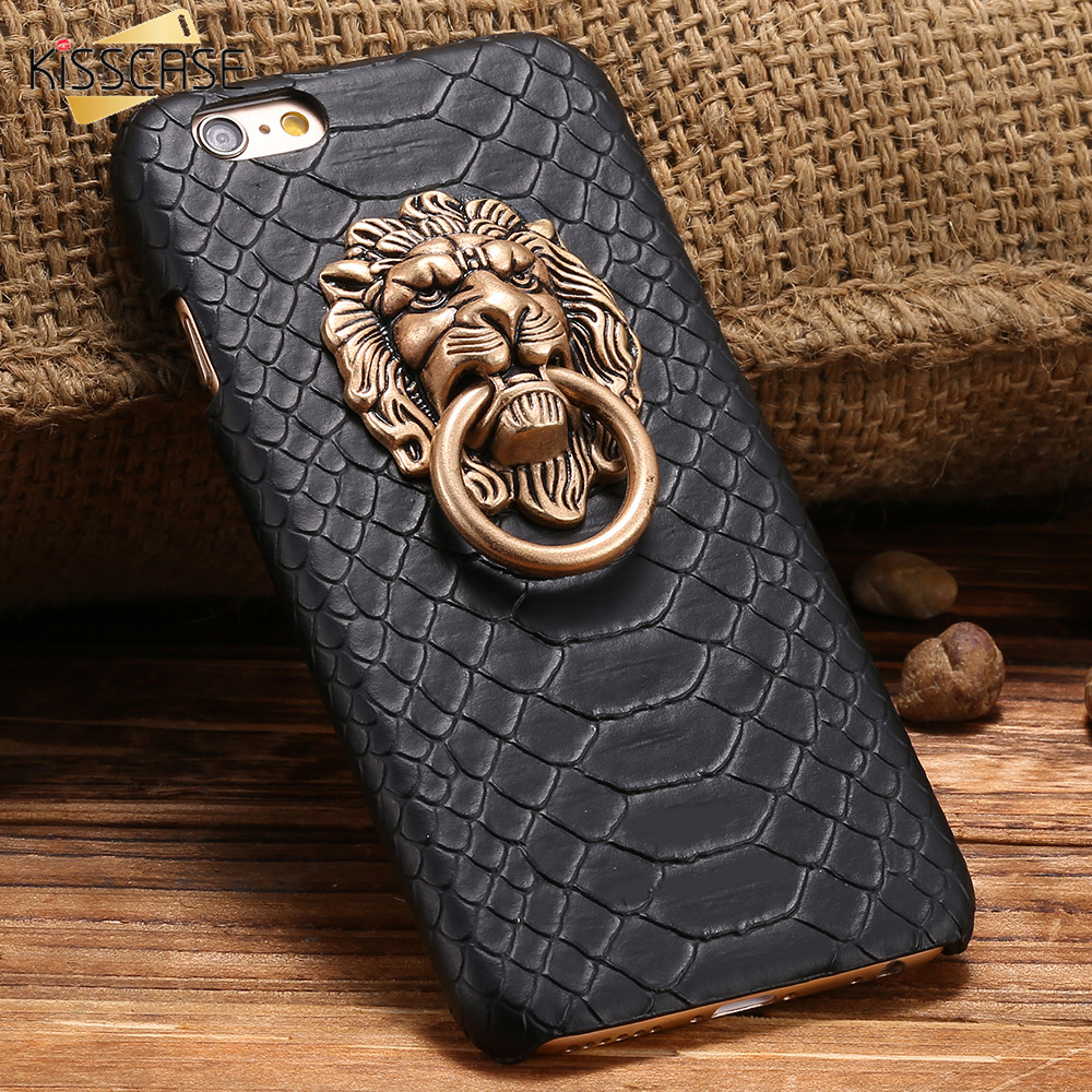 KISSCASE For iPhone 6 S Plus Animal Case Cool Snake Skin