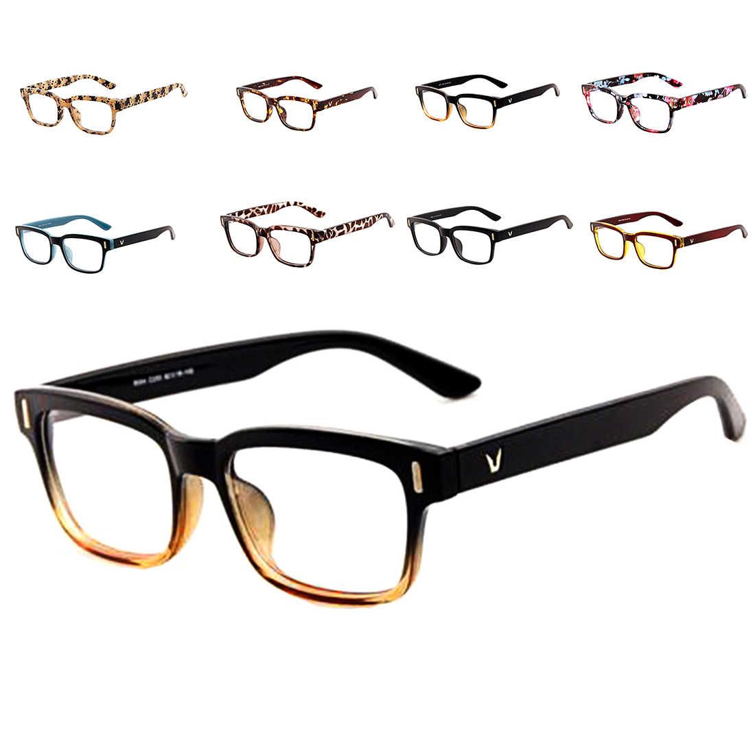 New 2016 Fashion V-Shaped Box Eye Glasses Frames Brand For Men New Women Computer Frames Eyewear Vintage Armacao Oculos De Grau