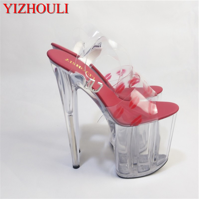 37c0f036455 2018 New crystal clear high heels