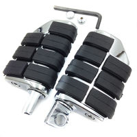 Chrome Aluminum Rubber Front Rear Motorcycle Foot Rests Foot Pegs Anti Vibration Skidproof With Male Mount 8028 For Harley