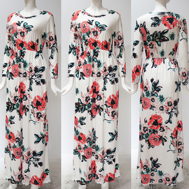 19 Summer Long Dress Floral Print Boho Beach Dress Tunic Maxi Dress Women Evening Party Dress Sundress Vestidos de festa XXXL 9