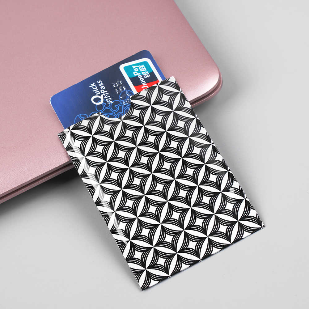 10 Pcs/Pack Rfid Card Protection Bank Card Case Anti-theft Rfid Blocking Cardholder Carte Metal Rfid Covers for Credit Cards