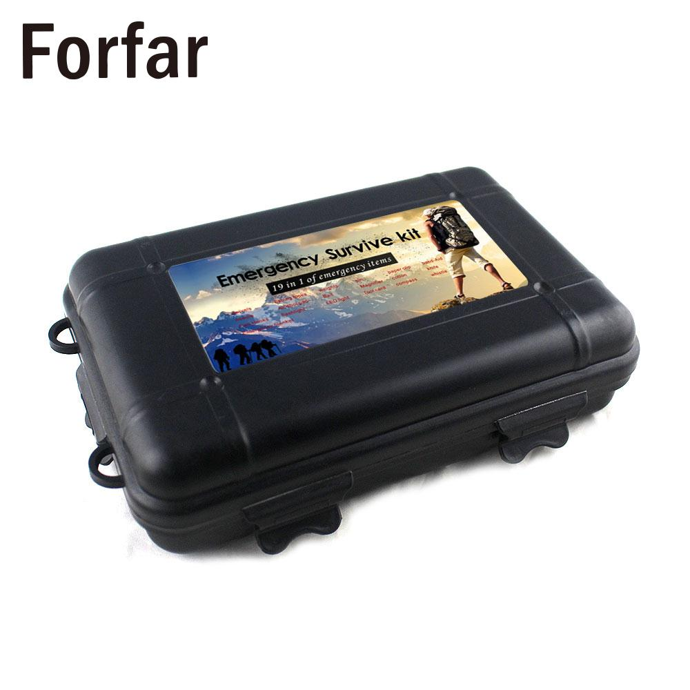 Tool Box Survival Comprehensive First Aid Outdoor Tool Hiking Green 21pcs/Box Multifunction Tactical Tool Box Survival Kit