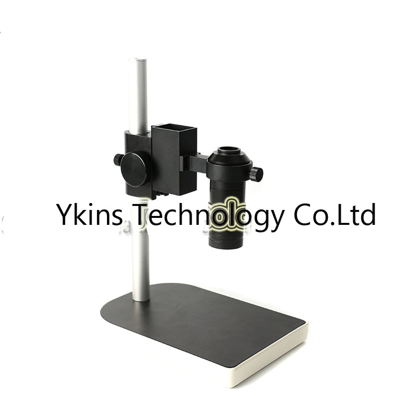 40mm Large Adjsutable Stereo Digital Industry Lab Microscope Lens Table Stand Dual Ring Holder+100X Zoom C-mount Lens free shipping 600x 4 3 lcd display microscope zoom portable led video microscope with aluminum stand for pcb phone repair bga