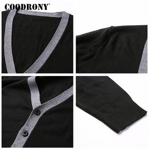 Image 5 - COODRONY Sweater Men Casual V Neck Cardigan Men Clothes 2018 Autumn Winter New Arrivals Knitted Cashmere Wool Mens Sweaters 8258