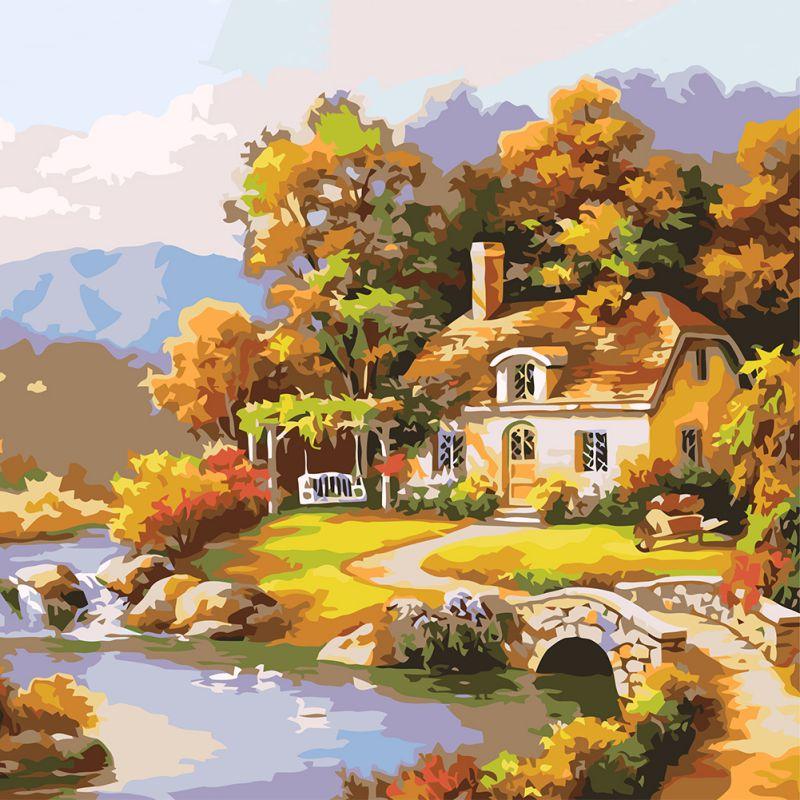 ①Vegetales de jardín en lienzo Digital DIY pintura al óleo regalo ...