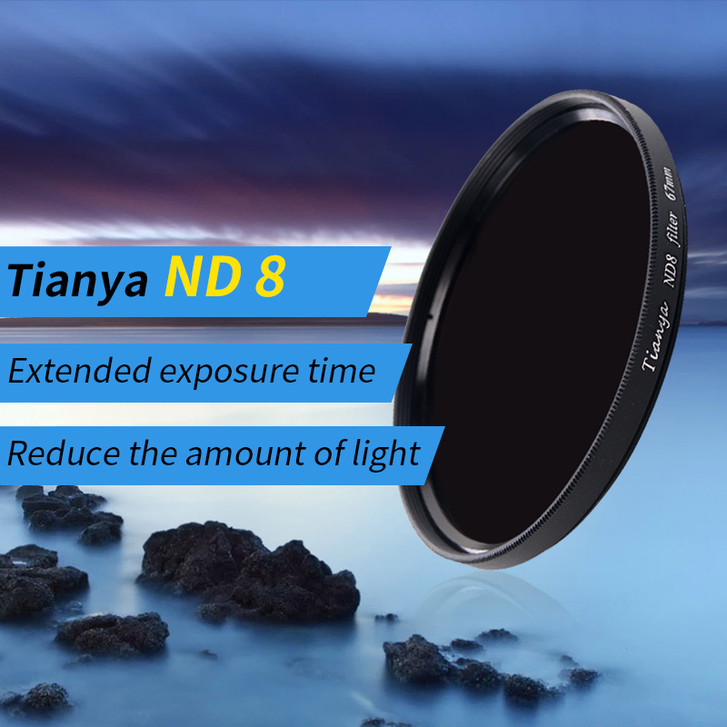 tianya ND8 ND32 Filter 67 77mm ND8 0.9 step 3step الكثافة المحايدة ND filter 37 40.5 43 49 46 52 58 62 72 82mm ND1.5