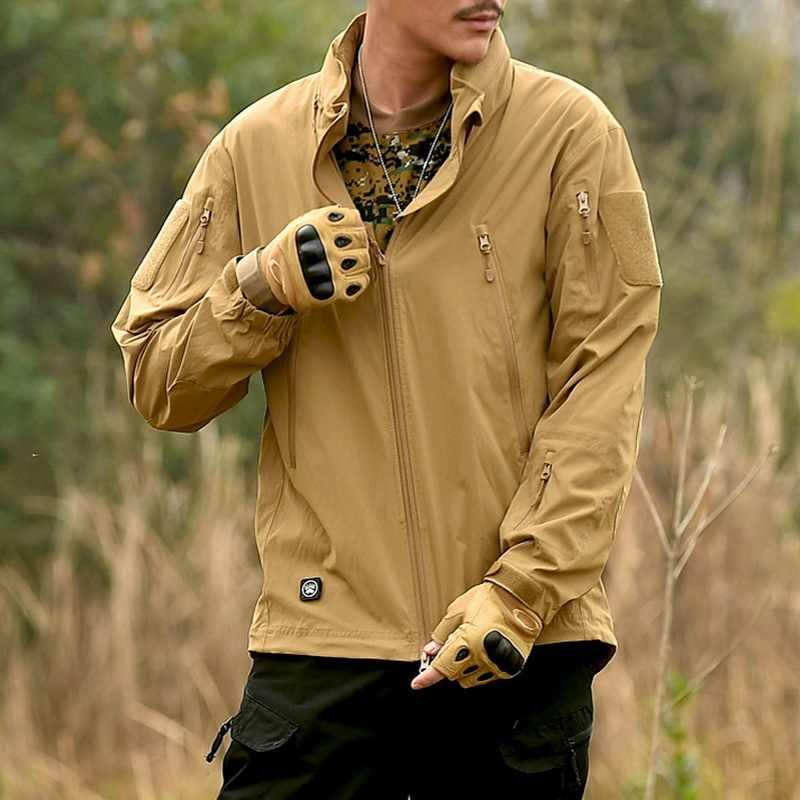 Loclimbナイロン防水戦術ハイキングジャケット男性軍ミリタリートレッキング登山コート屋外狩猟スポーツジャケット、am122