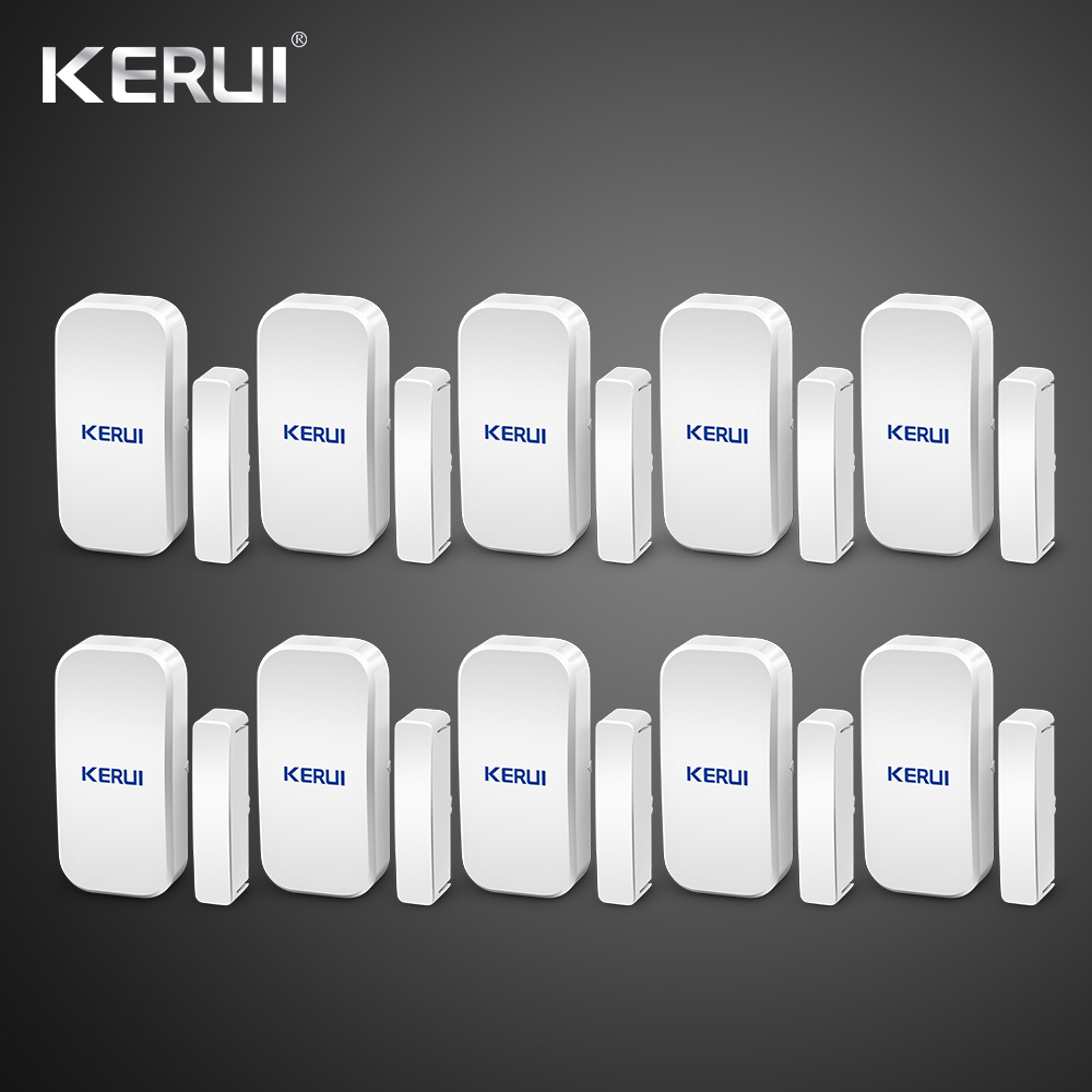 Wholesales 10PCS Kerui Extra Home Wireless Door Window Detector Gap Sensor For Home Alarm System Touch Keypad Battery IncludedWholesales 10PCS Kerui Extra Home Wireless Door Window Detector Gap Sensor For Home Alarm System Touch Keypad Battery Included