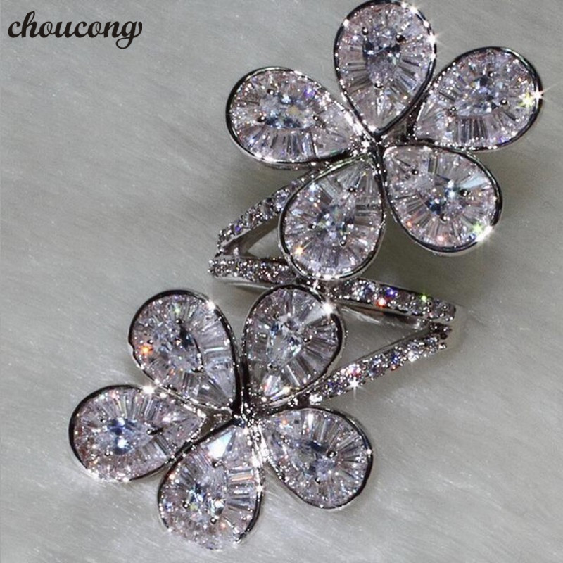choucong Luxury quality Flower shape Promise Ring 925 Sterling Silver AAAAA cz Party Wedding Band Rings For Women Finger Jewelrychoucong Luxury quality Flower shape Promise Ring 925 Sterling Silver AAAAA cz Party Wedding Band Rings For Women Finger Jewelry