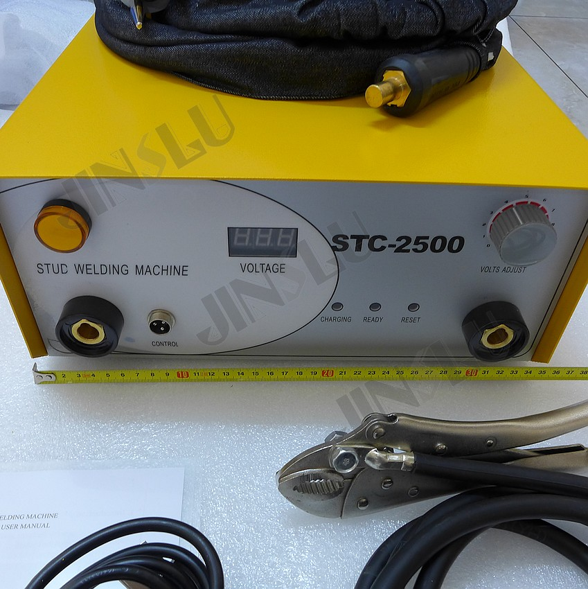 220V STC-2500 Capacitor Discharge Stud Welding Machine With Stud Torch Welding Range M3-M10 320pc capacitor discharge welding studs ws 320