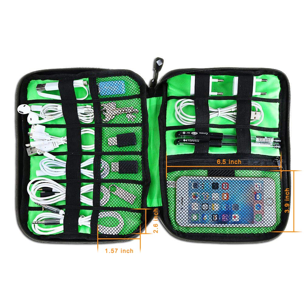 Black Cable Organizer Electronics Accessories Travel Bag USB Drive Bag Healthcare Grooming Kit Winder Management Storage Case (5)
