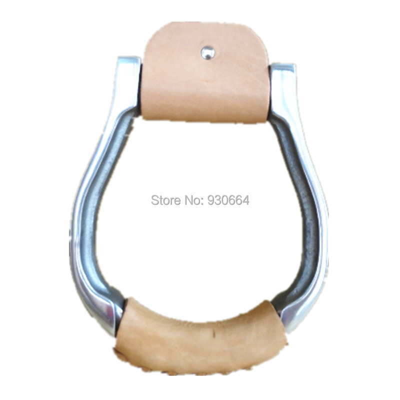 5 Inch Western Saddle Iron Aluminum  Oxbow Horse Saddle Stirrups Wrapped Leather   Horse Products F1022